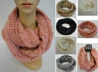 Knitted Infinity Scarf [Lg Cable Knit]